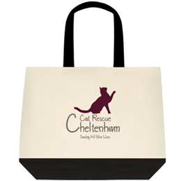 Cheltenham Cat Rescue, Small Cat Tote Bag